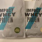My protein ホエイプロテイン「アップルクランブル&カスタード」「ナチュラルバナナ」